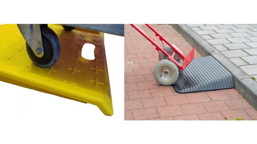 Drempelhulp voor rolcontainer of steekwagen