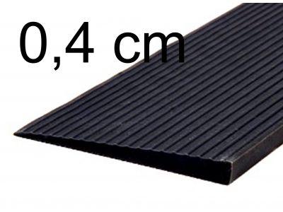 Drempelhulp 0,4 cm zwart
