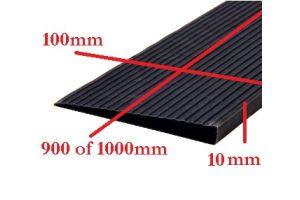 Rubber drempelhulp 1cm zwart(tweedehands) art.nr: 406101