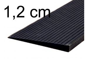 Drempelhulp 1,2 cm zwart