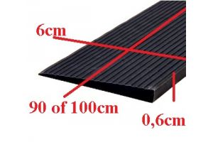 Rubber drempelhulp 0,6cm zwart(tweedehands) art.nr: 406060