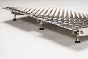 Verstelbare aluminium drempelhulp 4,5 - 6,5 cm , lengte 72 cm